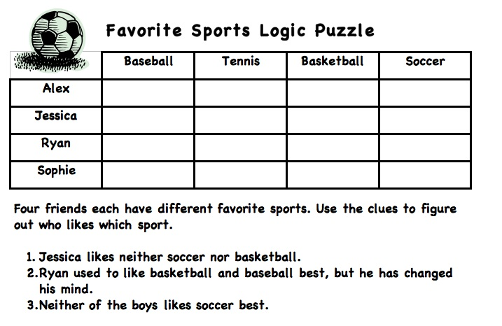 math worksheet : logic puzzles  ms shapiro s technology blog : Math Logic Problems Worksheets