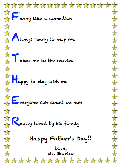Father acrostic