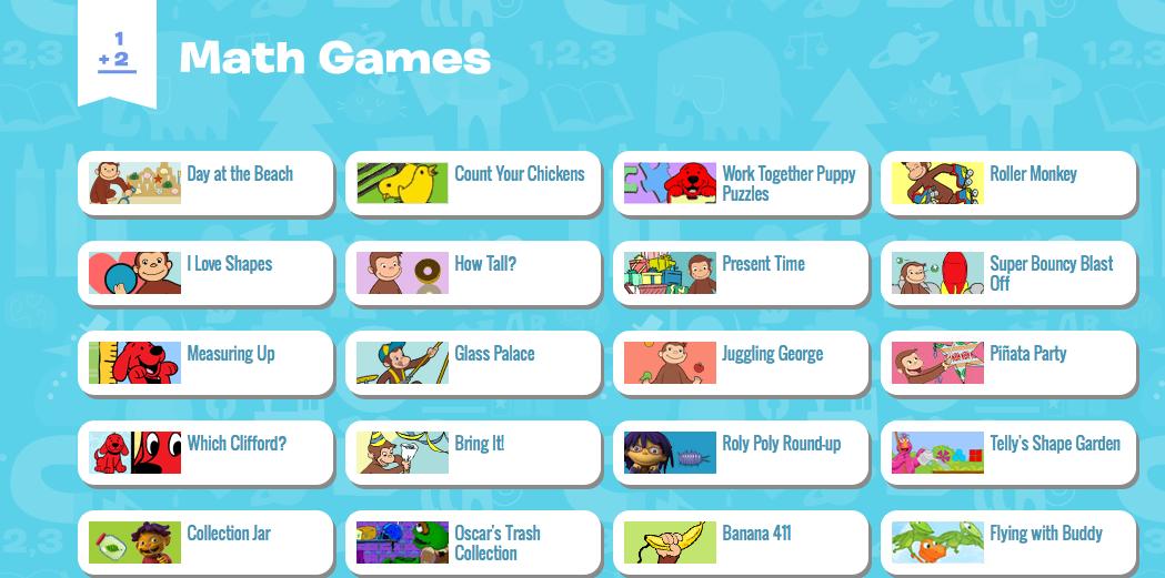 PBS Kids Math Games | Ms. Shapiro\'s Technology Blog